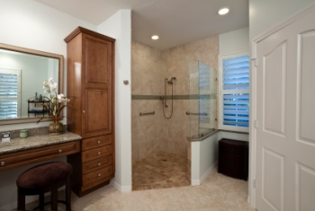 Remodeled bathroom in Richmond TX by Infinite Designs