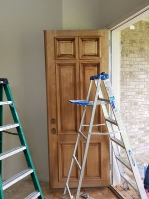 Before & After Door Restaining in Sienna Plantation, TX (1)