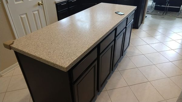 Before & After Kitchen Cabinet Painting & Backsplash Installation in Sugarland, TX (9)