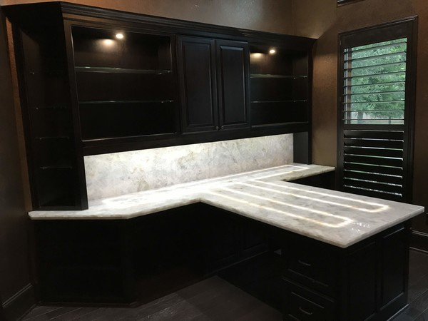 Built-in Cabinet, Staining & Granite Installation in Alief, TX (1)