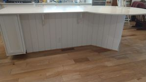 Before & After Shiplap Installation on Kitchen Island in Richmond, TX (3)