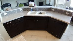 Before & After Kitchen Cabinet Painting & Backsplash Installation in Sugarland, TX (7)