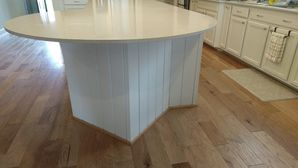 Before & After Shiplap Installation on Kitchen Island in Richmond, TX (4)