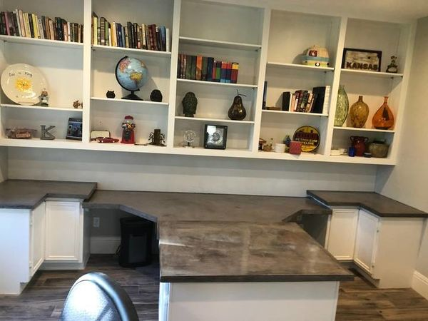 Built-in Shelving & Concrete Countertops in Richmond, TX (1)