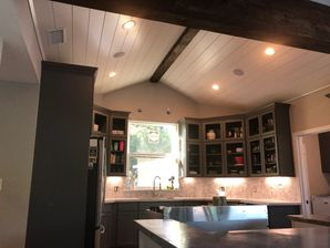 Concrete Countertops, Stained Beam on Ceiling, New Backsplash, Under-Cabinet Lighting & Custom Cabinets for Kitchen Remodel in Richmond, TX (4)