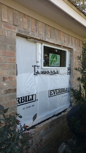 Before, During & After Brick Installation & Window Replacement in Sugarland, TX (2)