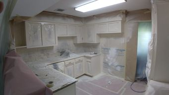 Before, During, & After Kitchen Cabinet Painting in Katy, TX (4)