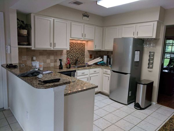Before, During, & After Kitchen Cabinet Painting in Katy, TX (5)
