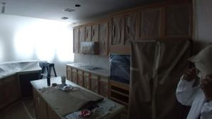 Before & After Kitchen Cabinet Painting & Backsplash Installation in Sugarland, TX (4)